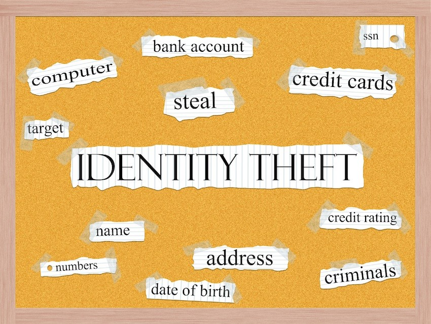 identity theft: computer, bank account, steal, credit cards, ssn, credit rating, criminals, address, date of birth, numbers, name, target