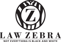 Logo for Law Zebra - Everything is Black and White