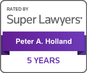 Super Lawyers Peter A. Holland 5 years badge